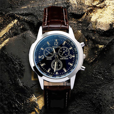 dial, Fashion, leather strap, steel watch
