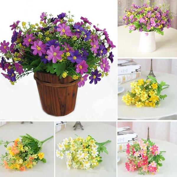 little, Flowers, Baskets, artificialdaisy