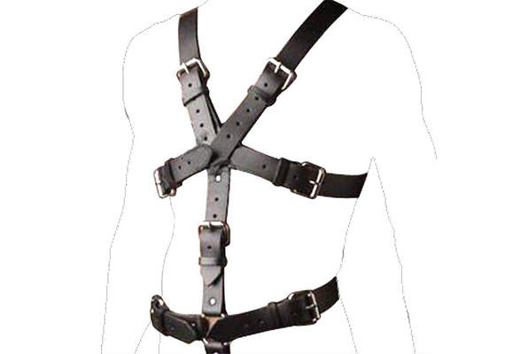 Black Men/'s Leather Chest Body Harness