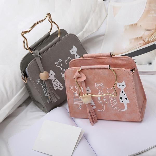 women bags, Shoulder Bags, Leather Handbags, rabbit