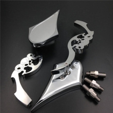 Harley Davidson, skull, chrome, Blade