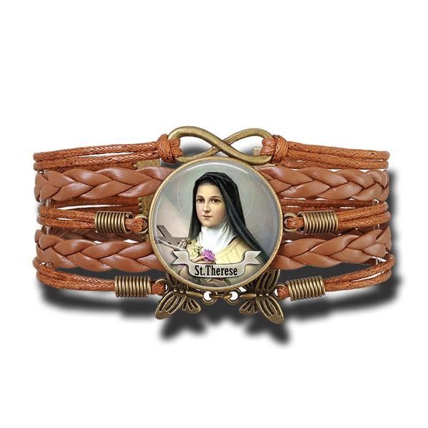 Charm Bracelet, Copper, rope bracelet, leatherchainbracelet