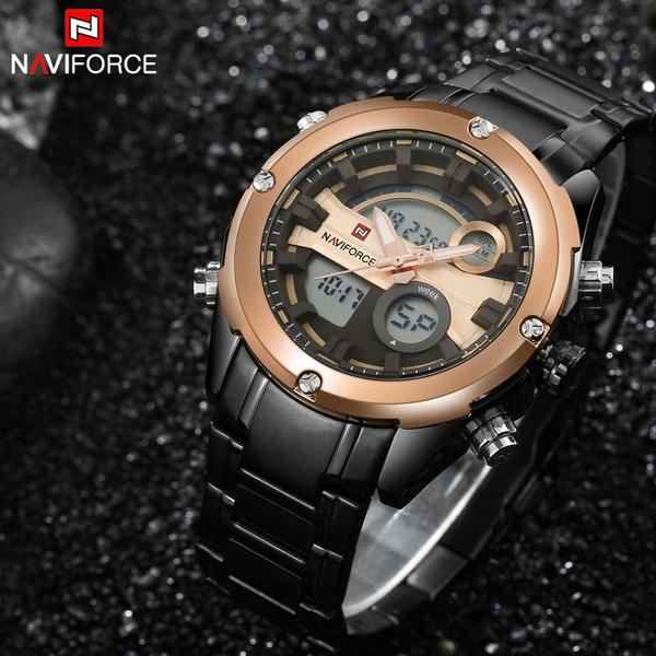 Chronograph, steelbandwatche, Sport, business watch