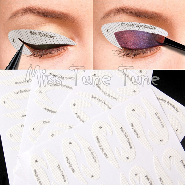 New Eye Makeup Fast Eyeliner Eyeshadow Makeup Drawing Lining Stencils Stickers Adhesive Tips Template 32pcs Lot Wish