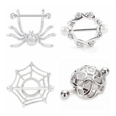Turtle, nipplepiercing, Stainless Steel, Jewelry