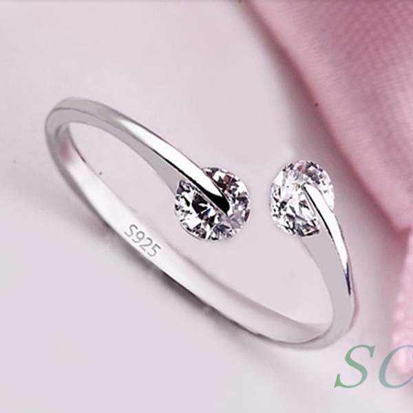 s925sliver, wedding ring, Openings, Simple