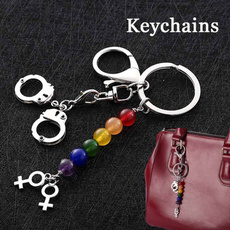rainbow, Key Chain, PC, handcuffkeychain
