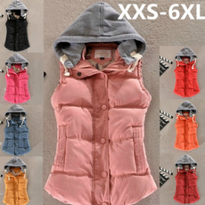 Women Vest, Vest, hooded, Jacket