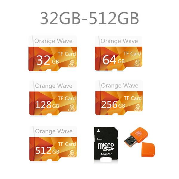 Memory Cards, Orange, Adapter, Flash