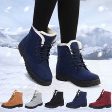 ankle boots, Plus Size, fur, Winter