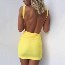 Summer, pencil dress, Mini, Club