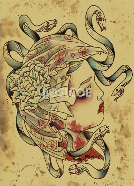 Antique, tattoo, paintingcore, Paper & Plastic