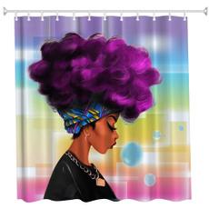waterproofshowercurtain, hair, Polyester, Shower