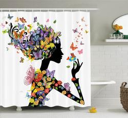waterproofshowercurtain, Shower, Bathroom, Fashion