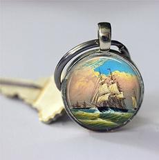 Key Chain, sailing, Chain, sailboat