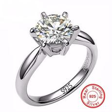 8MM, DIAMOND, 925 sterling silver, Jewelry
