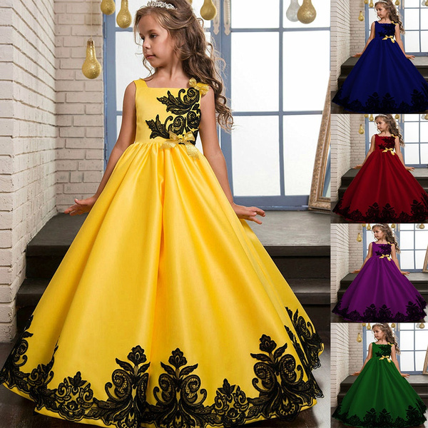 2018 Fashion Girls Kids Embroider Party Dress Children Evening Dresses Gowns Ball Gown Prom Dresses For 5 14years Wish