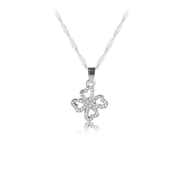 Clover, DIAMOND, luckynecklace, Gifts