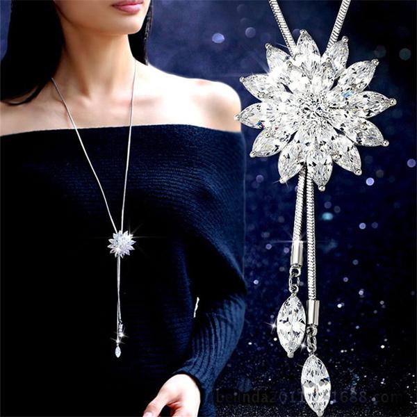 Necklaces Pendants, women necklace, Rhinestone, Women's Fashion