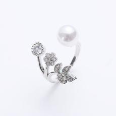 Sterling, Adjustable, leaf, Jewelry