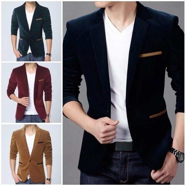 mencottonsweatshirt, Fashion, Blazer, Casual