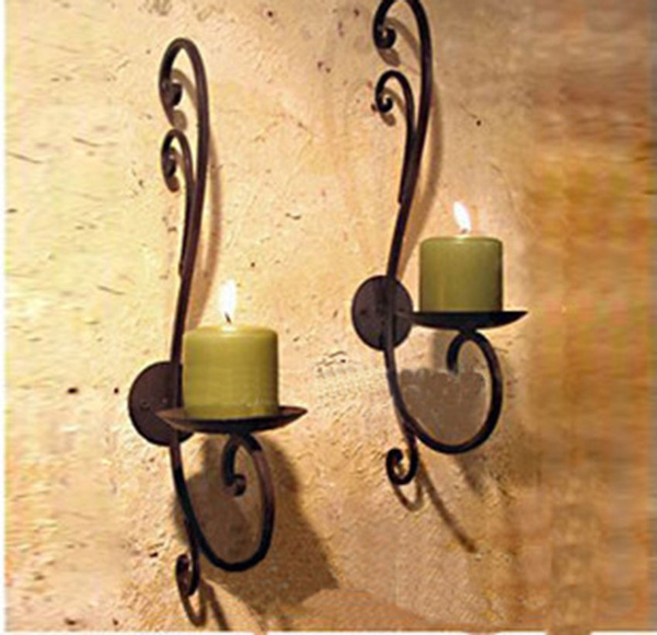 Vintage, Wall Mount, Candle Holders & Accessories, Home Decor