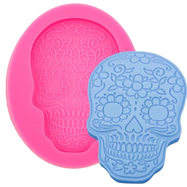 caketool, siliconebakingmould, skull, skullchristeningmouldhalloween