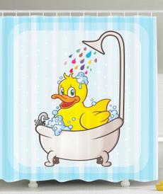 waterproofshowercurtain, Blues, Bathroom, bathtub