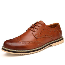 mensdressshoe, Lace, casual leather shoes, leather