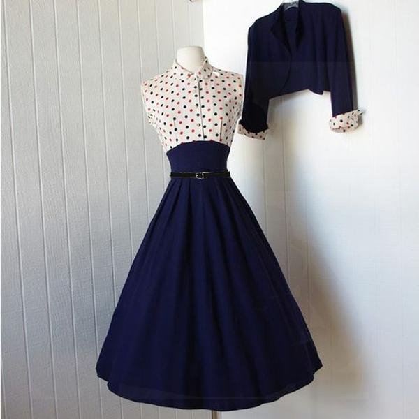 Blues, Swing dress, bolerojacket, Pins