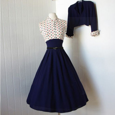 Blues, Swing dress, bolerojacket, Pins