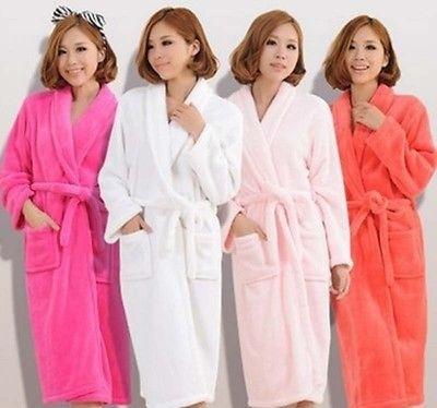 night dress, Fleece, cotton-blend, Gray