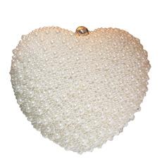 Heart, evening, pearls, hangbag
