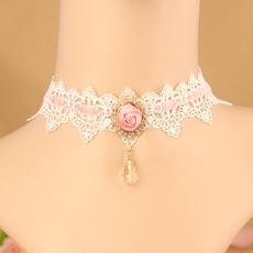 pink, Fashion, Lace, Rose