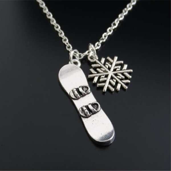 Jewelry, snowboarderpendant, snowboard, Necklace