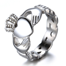 claddaghring, Heart, Silver Jewelry, 925 sterling silver