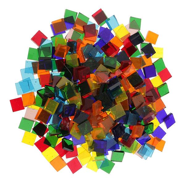 Craft, Square, Glass, coloredglas