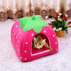 pink, rabbit, dog houses, cute