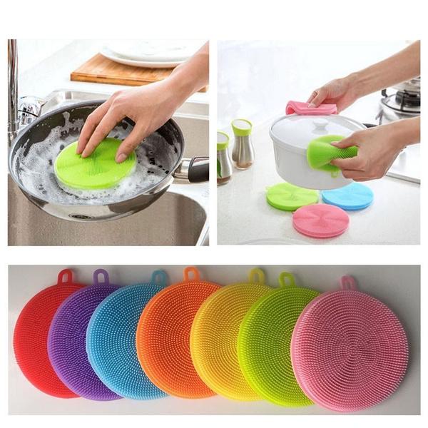 dishscrubber, washingbrush, Kitchen & Dining, Silicone