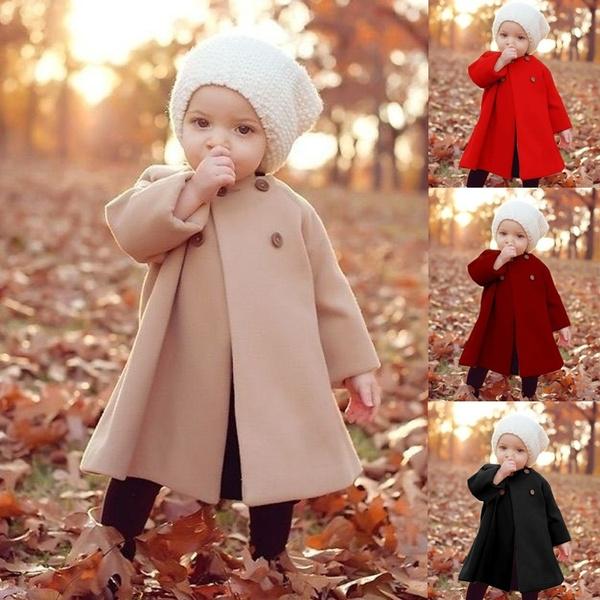 woolen coat, Baby Girl, Outdoor, Sleeve