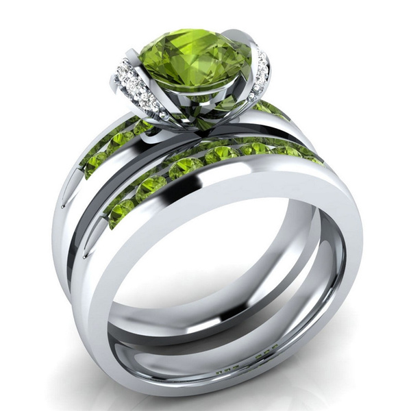 Couple Rings, Sterling, crystal ring, Fashion
