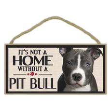 pitbullterrier, Home & Living, Dogs, sign
