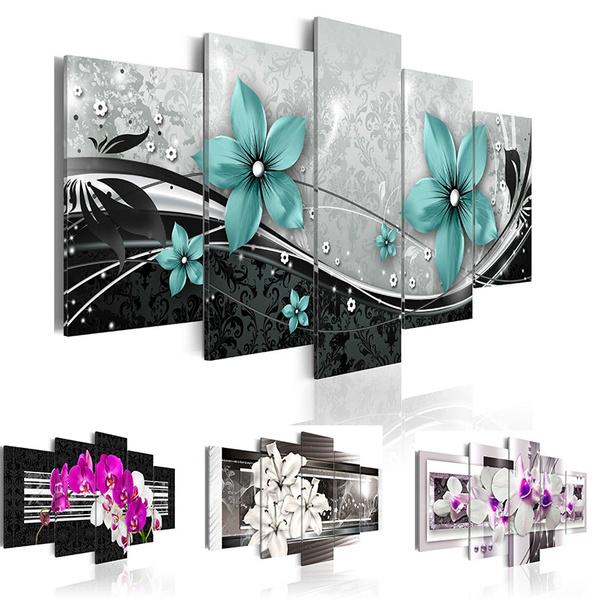 art, Home Decor, canvaspainting, orchidflower
