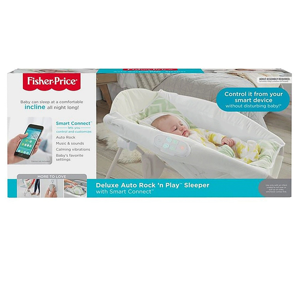 Fisher Price Deluxe Newborn Baby Auto Rock N Play Sleeper With Smart Connect Wish