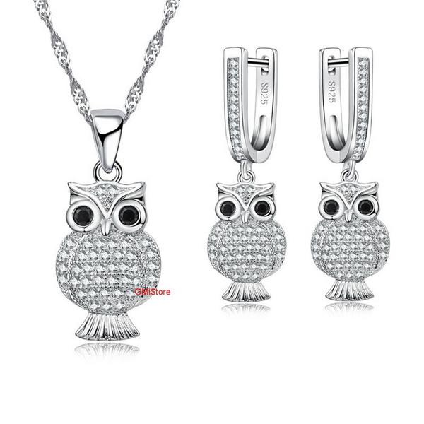 Owl, Fashion, Bridal Jewelry Set, cute