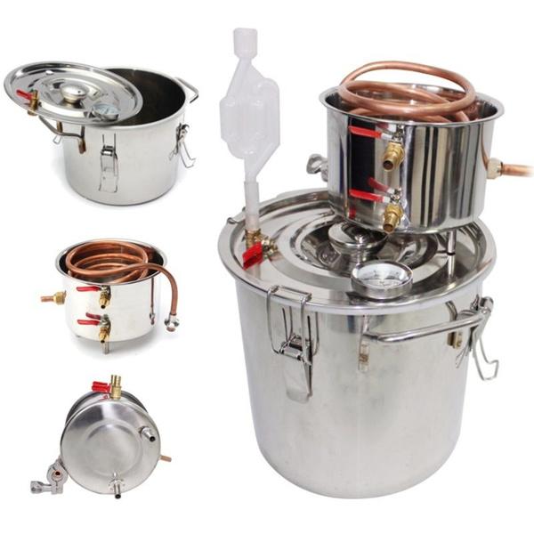 distilledwineequipment, hydrosolmachine, distilling, Copper