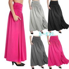 long skirt, Plus Size, maxiskirtsforwomen, Cintura