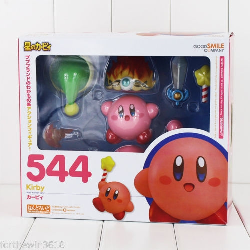 "Popopo Kirby 4/""//10cm PVC Figure Anime Toy Gift Nendoroid #544 New No Box"