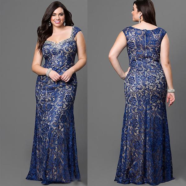 Fashion, tunic, Lace, long dress