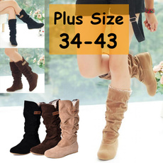 casual shoes, Knee High Boots, midcalfboot, Winter